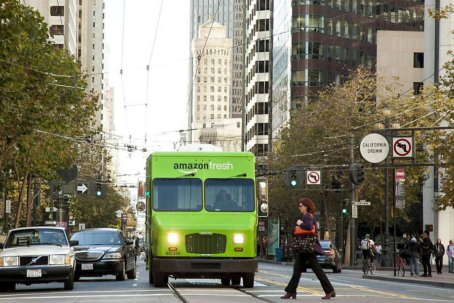 AmazonFresh delivery vehicles are taking to S.F. streets for same-day service. Photo: Amazon.com