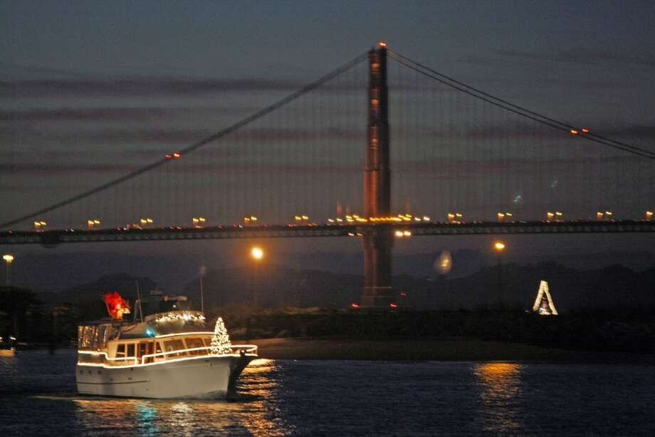 Lighted Boat Parade:  Whatever would make someone brave these frigid temperatures and spend some time outdoors? How about more than 60 boats, each festooned with lights and holiday decorations, parading along the waterfront. The best views will be at Aquatic Park, Pier 39, Marina Green and Crissy Field. 5:30 p.m. Friday. The parade will begin at Pier 39 and head west to Crissy Field before turning around.  www.visitfishermanswharf.com  Photo: Lance Iversen, SFC