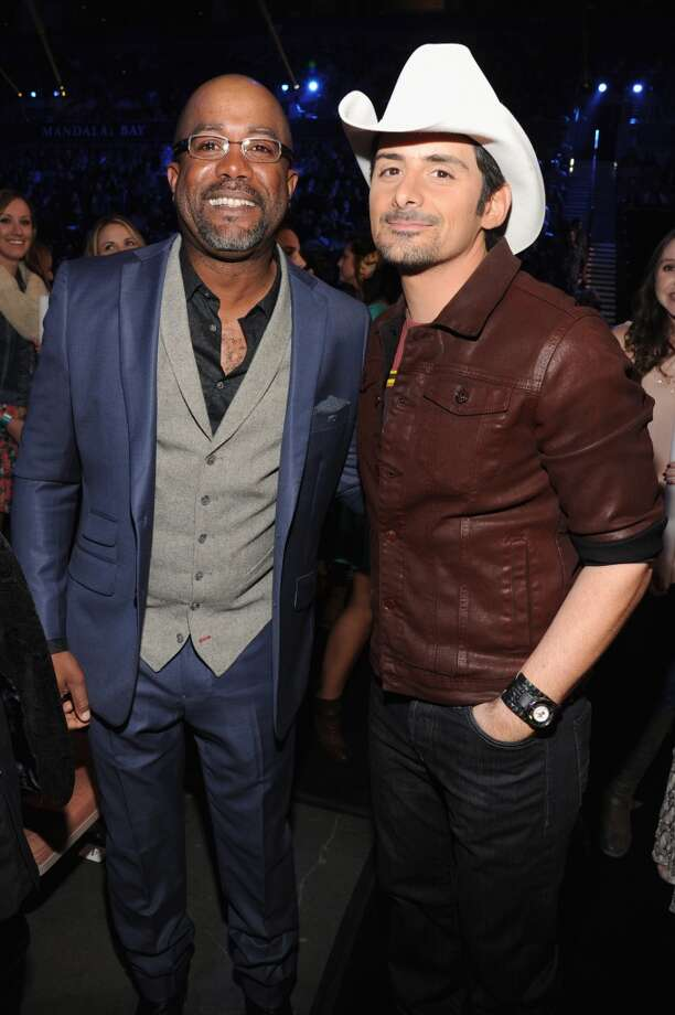 Singers Darius Rucker (L) and Brad Paisley attend the American Country Awards 2013 at the Mandalay Bay Events Center on December 10, 2013 in Las Vegas, Nevada.  (Photo by Kevin Mazur/Fox/WireImage) Photo: Kevin Mazur/Fox, WireImage