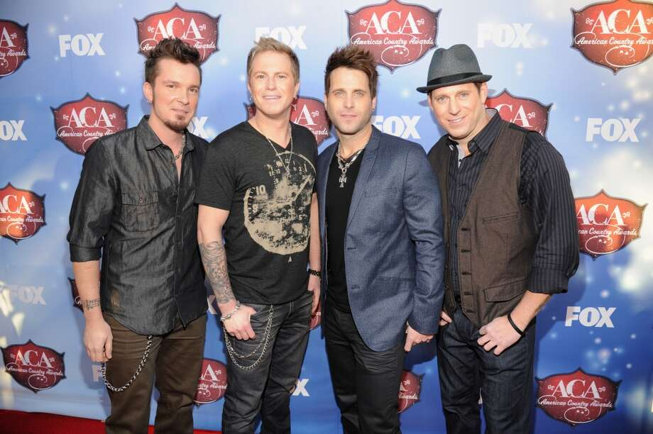 (L-R) Recording artists Josh McSwain, Barry Know, Scott Thomas and Matt Thomas of Parmalee arrive at the American Country Awards 2013 at the Mandalay Bay Events Center on December 10, 2013 in Las Vegas, Nevada.  (Photo by Kevin Mazur/Fox/WireImage) Photo: Kevin Mazur/Fox, WireImage