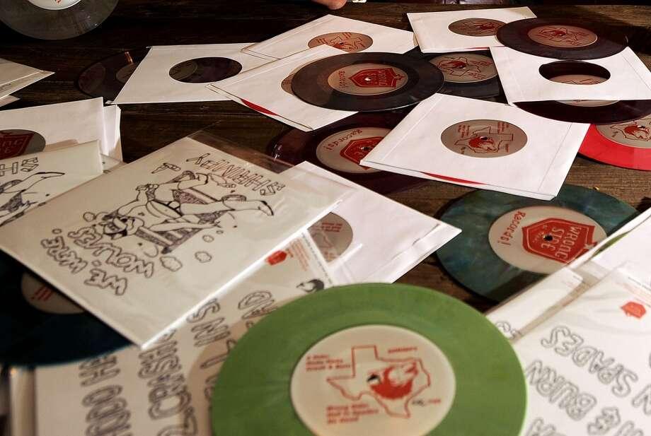We Were Wolves records. Photo taken Tuesday, November 27, 2012 Guiseppe Barranco/The Enterprise Photo: Guiseppe Barranco, Guiseppe Barranco/The Enterprise