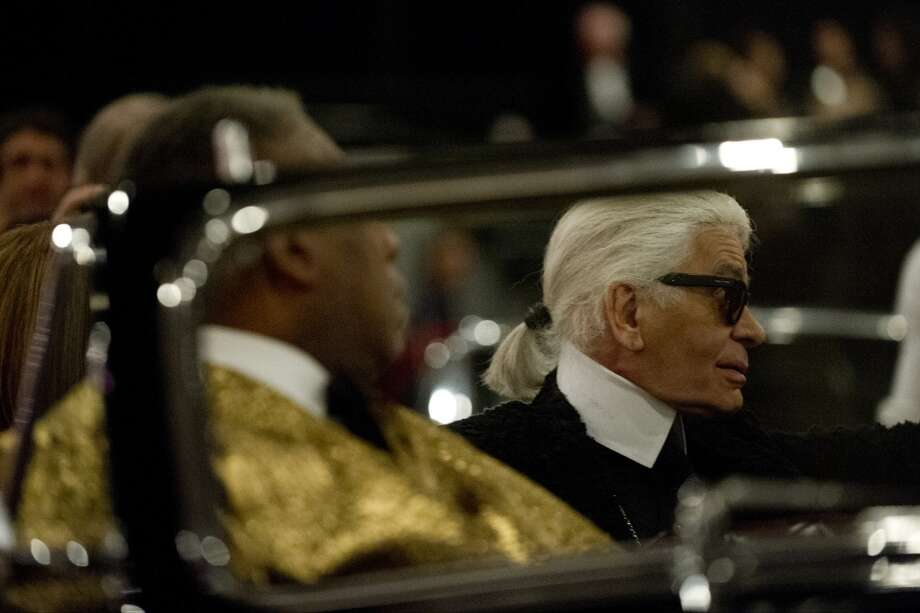 "DALLAS, TX - DECEMBER 10:  Karl Lagerfeld arrives for the Chanel ""Metiers d'Art"" Show at Fair Park on December 10, 2013 in Dallas, Texas.  (Photo by Cooper Neill/Getty Images for Chanel) Photo: Cooper Neill"