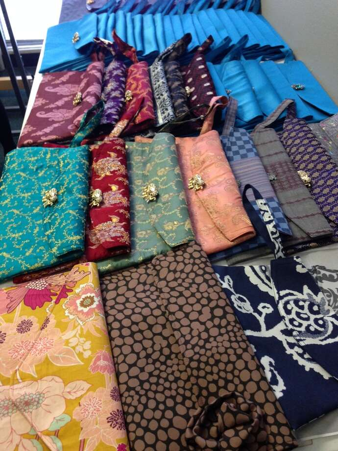 The sale of Joy clutches raises funds for the Alliance Institute of Tailoring project. Photo: Alliance Institute Of Tailoring / ONLINE_YES