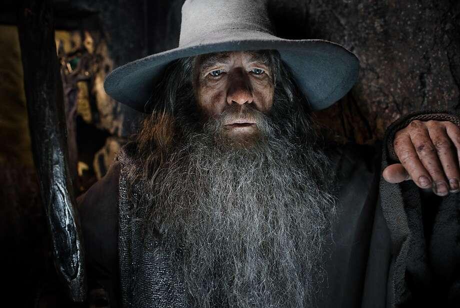 "Gandalf (Ian McKellen) tries to reclaim the dwarf kingdom in ""The Hobbit: The Desolation of Smaug."" Photo: Mark Pokorny, Warner Bros."