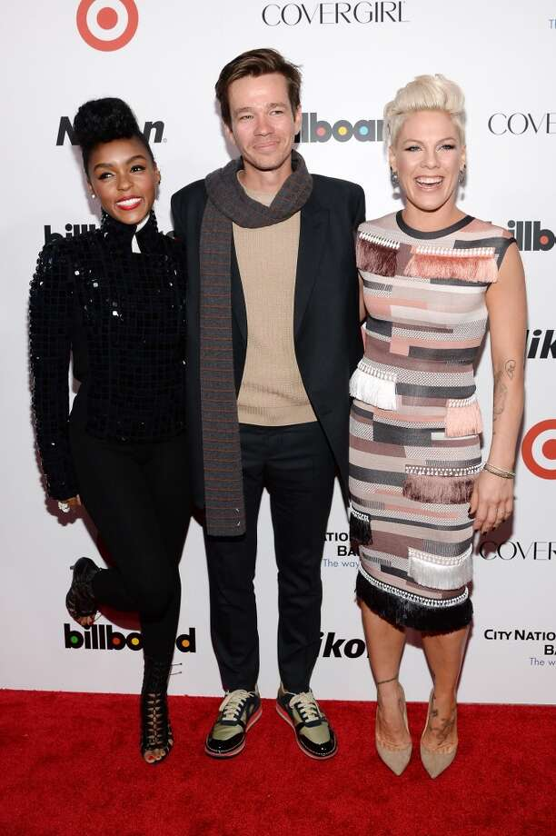 (L-R) Musicians Janelle Monae, Nate Ruess of fun., and P!nk attend Billboard's annual Women in Music event at Capitale on December 10, 2013 in New York City.  (Photo by Larry Busacca/Getty Images) Photo: Larry Busacca, Getty Images