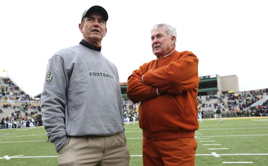 Fresh from orchestrating the most dramatic turnaround in Big 12 history, Briles earned a contract extension before taking the Bears to the Fiesta Bowl for their first BCS appearance. His illustrious career as a high-school coach endears him to that powerful base of support across Texas. He's done a masterful in developing lower-regarded recruits into strong players. Briles' offense has set school records and leads the nation in scoring and total offense. But he's a football coach first and foremost and might not be willing to put up with the incessant media demands of the Longhorn Network. Also, some Texas alumni might second-guess taking their coach from a in-state rival like Baylor. Photo: LM Otero, Associated Press