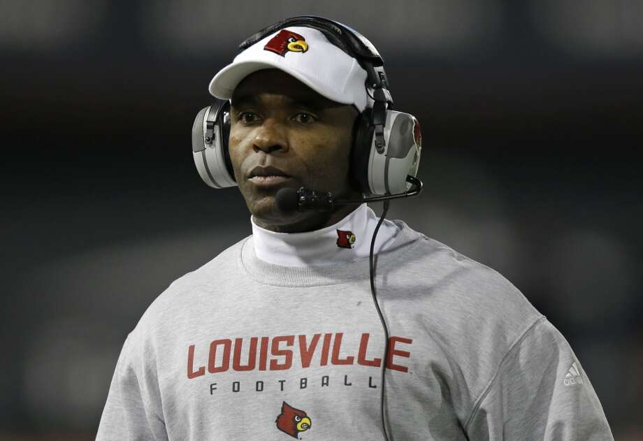A former assistant at Florida, Strong was the only member of the Gators' staff that Urban Meyer retained when he replaced Ron Zook. Strong's eight-year stint there — after earlier working at Notre Dame and South Carolina under Lou Holtz — earned him the chance for the Louisville job. After a slow start with the Cardinals, Strong has led them to a 22-3 record in the last two seasons, including a big victory over Florida in last year's Sugar Bowl. Despite his youthful appearance, he's 53 and making a $3.7 million salary for the Cardinals and he's closely aligned with Louisville athletic director Tom Jurich. He also has a rather steep contract buyout at $5 million. Photo: Al Behrman, Associated Press