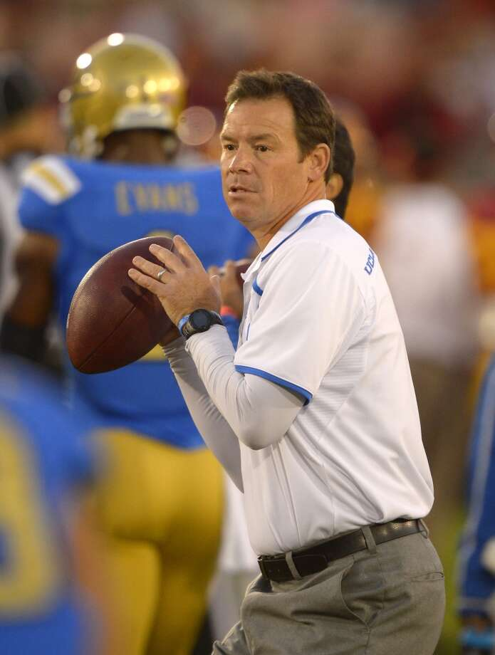 Following in the footsteps of his father, former NFL coach Jim Mora, he's developed a growing program with UCLA. After his career as a walk-on at Washington, he served as a capable NFL assistant before getting a shot as Atlanta's head coach from 2004-06, leading them to the NFC Championship Game in his first season. He later resurfaced as head coach at Seattle for a season before going into broadcasting and then the Bruins job. UCLA is a difficult coaching position and Mora packed his staff with capable assistants and recruiters. He quickly earned respect as a strong recruiter and has led the Bruins to an 18-8 record in his first two seasons. He's using a spread offense and would find a capable coaching staff to help him change the culture in Austin. Photo: Mark J. Terrill, Associated Press