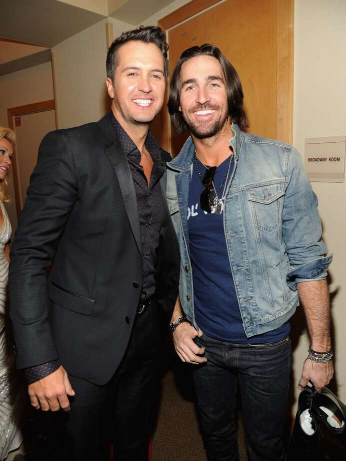 Singers Luke Bryan (L) and Jake Owen attend the American Country Awards 2013 at the Mandalay Bay Events Center on December 10, 2013 in Las Vegas, Nevada.  (Photo by Kevin Mazur/Fox/WireImage) Photo: Kevin Mazur/Fox, WireImage