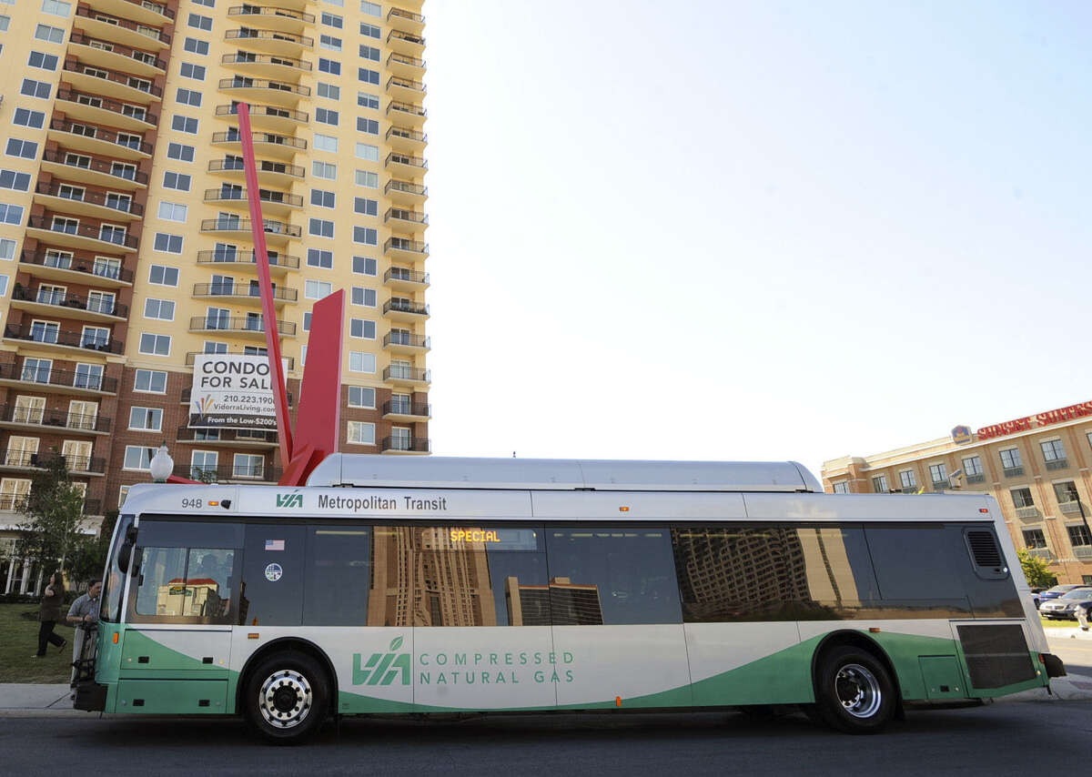 VIA Metropolitan Transit is among public transit systems in Texas with natural-gas-powered vehicles.