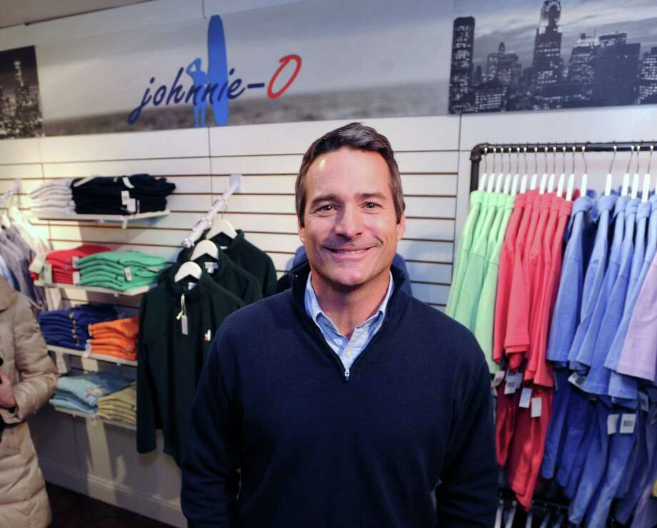 John O'Donnell during the official grand opening party for johnnie-O, a West Coast-based apparel company, at 26 Greenwich Ave., Greenwich, Conn., Wednesday night, Dec. 11, 2013. O'Donnell is the founder of the business. Photo: Bob Luckey / Greenwich Time
