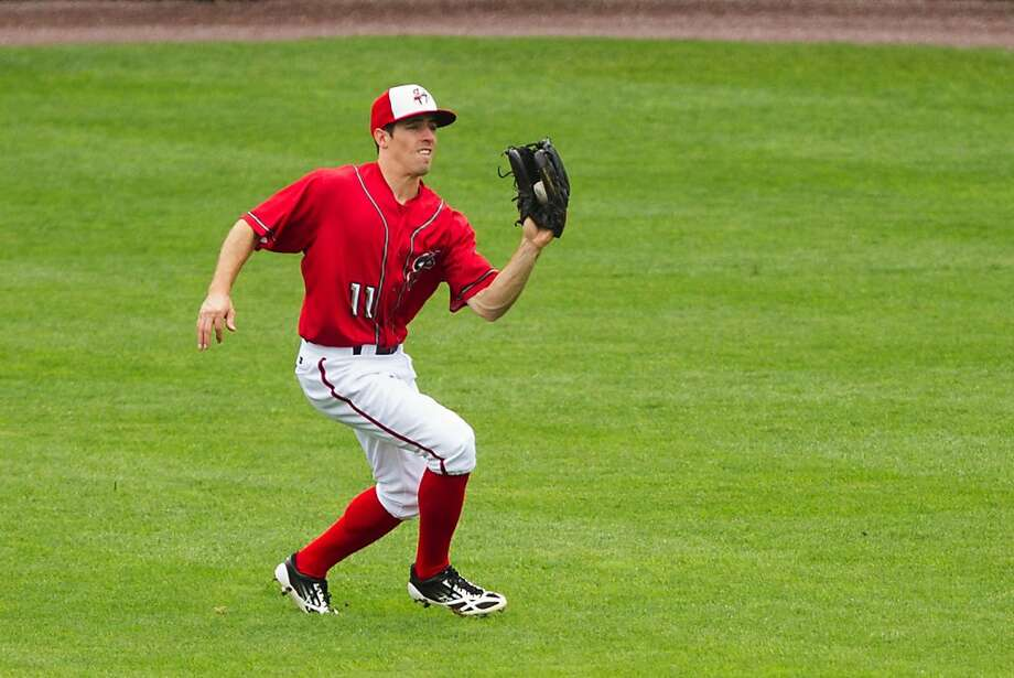 "Billy Burns, whom the A's acquired from Washington, is a ""fleet-footed, elite speed center fielder who swallows ground in the outfield,"" one scout said. Photo: Paul Chaplin, Courtesy Of PennLive.com"