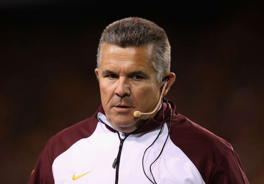 Todd Graham, Arizona StateHe's bounced around a lot in his coaching career, but has the Sun Devils pointed in the right way. Old boss Steve Patterson has seen that, although ASU president Michael Crow has been adamant about not letting the new UT athletic director pluck anybody from his old school. Photo: Christian Petersen, Getty Images