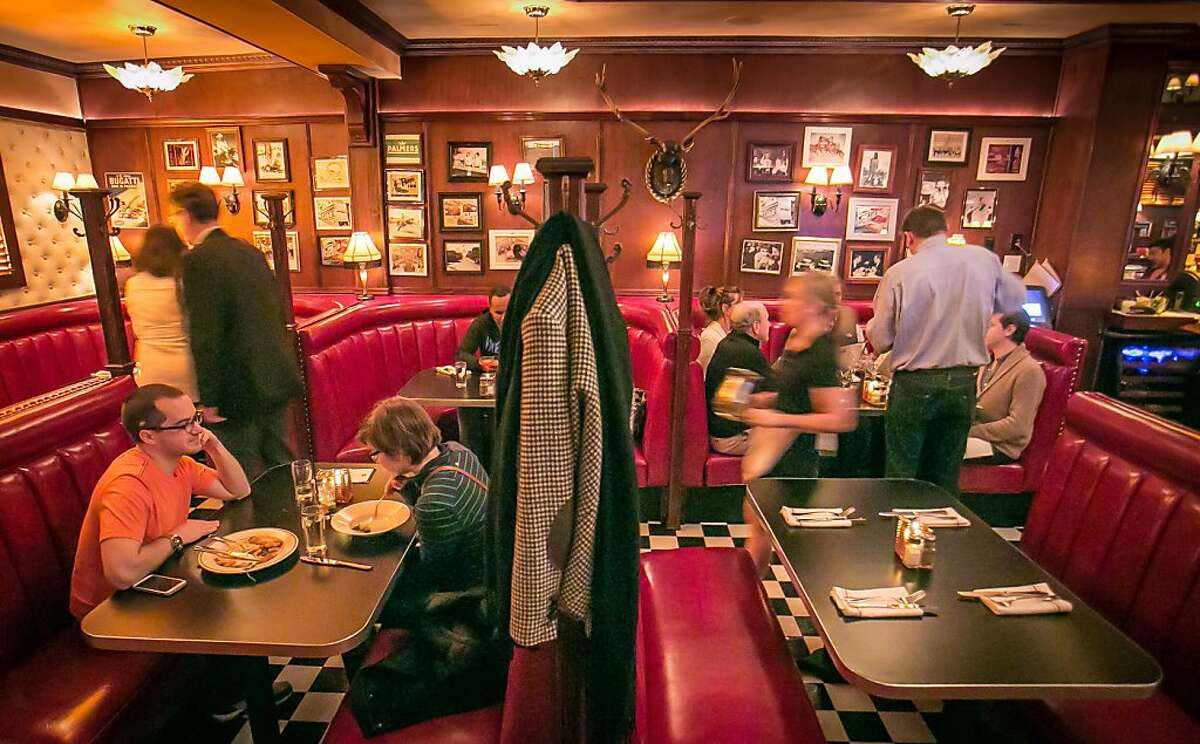 Diners enjoy dinner at Palmers Tavern in San Francisco, Calif., on November 27th, 2013.