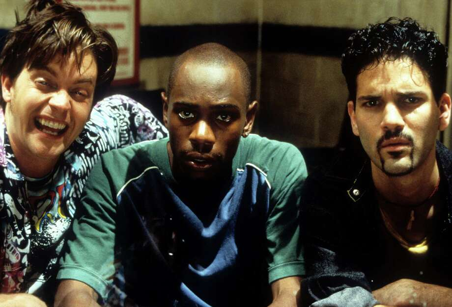 "Guillermo Diaz, right, starred in a a lot of small moves in the '90s, including ""Half Baked,"" which featured Dave Chappelle, center, and Jim Breuer.  Photo: Archive Photos, Getty Images / 2012 Getty Images"