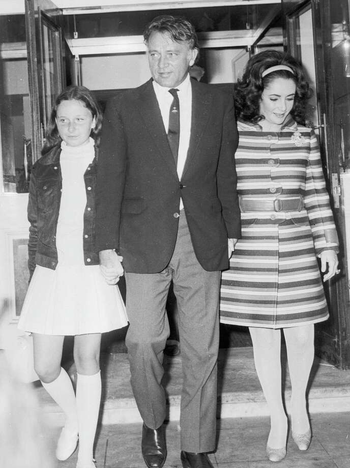 Recognize the kid on the left? It's Kate Burton, daughter of '50s acting great  Richard Burton, center. They're pictured in 1968 with Elizabeth Taylor.  Photo: Wesley, Getty Images / Hulton Archive