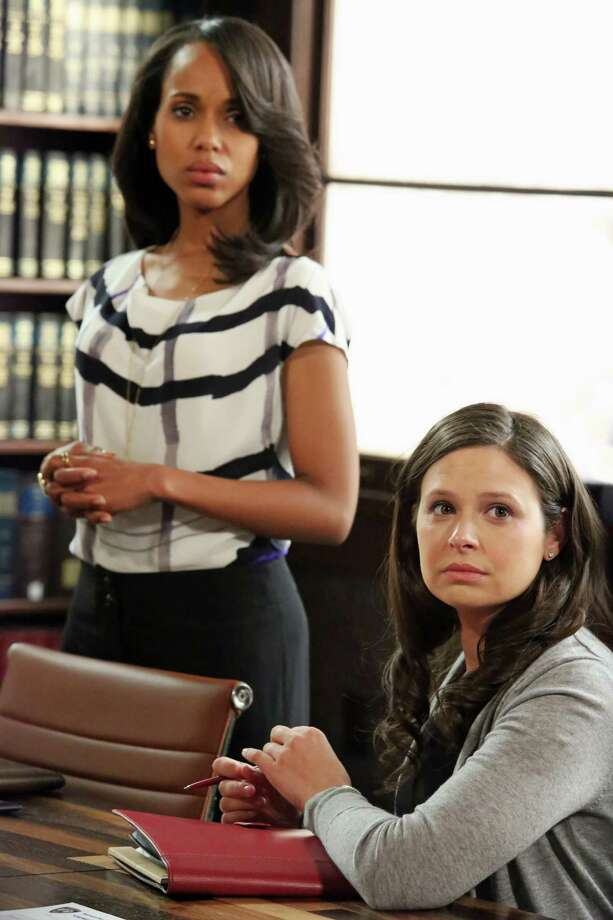 "Katie Lowes, right, plays Quinn Perkins in ""Scandal.""  Photo: Richard Cartwright, Getty Images / 2013 American Broadcasting Companies, Inc."