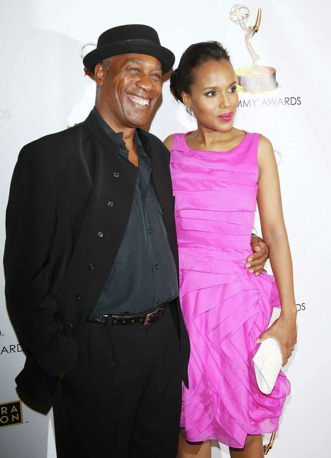 Joe Morton (L) and Kerry Washington at the Primetime Emmy Awards on Sept. 17, 2013.  Photo: Michael Tran, Getty Images / 2013 Michael Tran
