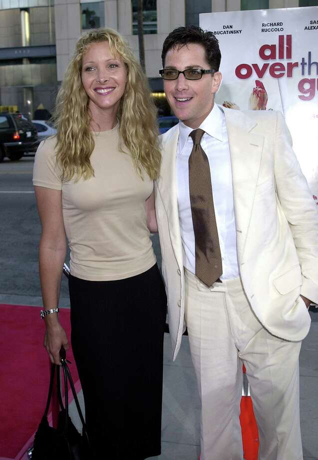 "Lisa Kudrow in 2001, with Dan Bucatinsky, her longtime writing and producing partner. Yup, he plays Cyrus' husband James in ""Scandal.""  Photo: Gregg DeGuire, Getty Images / WireImage"