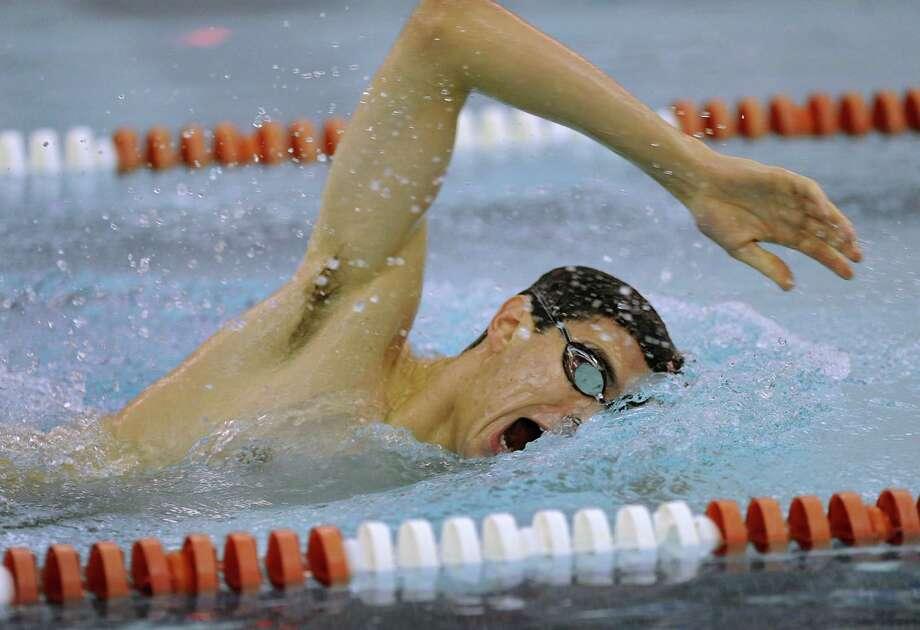 Bethlehem swimmer Gunnar Zemering competes during a swim meet against Niskayuna Tuesday, Dec. 3, 2013, in Niskayuna, N.Y. (Lori Van Buren / Times Union) Photo: Lori Van Buren / 00024850A