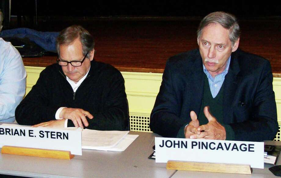 The Board of Finance Wednesday night elected John Pincavage its new chairman and Brian E. Stern, its new vice chairman in unanimous votes. Photo: Anne M. Amato / Westport News