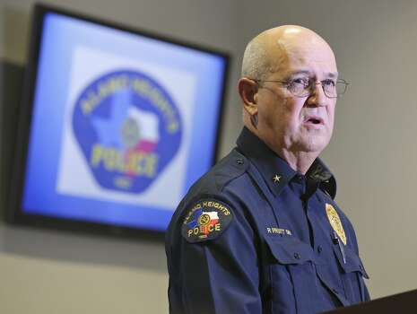 Alamo Heights Police Chief Richard Pruitt answers questions from the media, Monday Dec. 9, 2013, at press conference on the University of the Incarnate Word student shot to death by a campus officer Friday. Photo: San Antonio Express-News