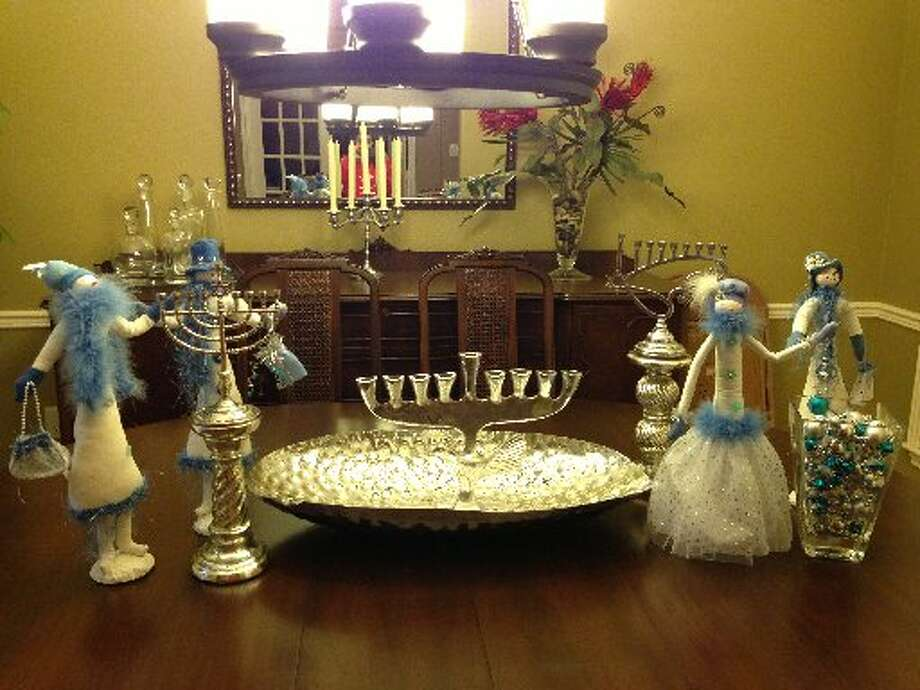 Laurie Newberg sent in this photo of Bonny Akers' centerpiece for the Hanukkah. Photo: Courtesy Photo