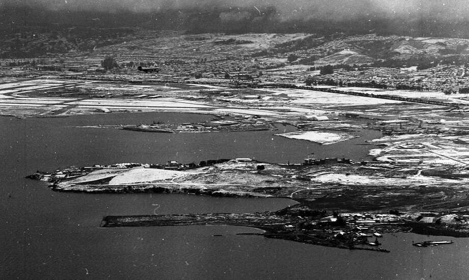 A view of Oyster Point, looking toward San Francisco International Airport. This view reminds me of Lake Tahoe. Note here and in the previous photos that snow is whitening the roofs. Photo: Gordon Peters, The Chronicle