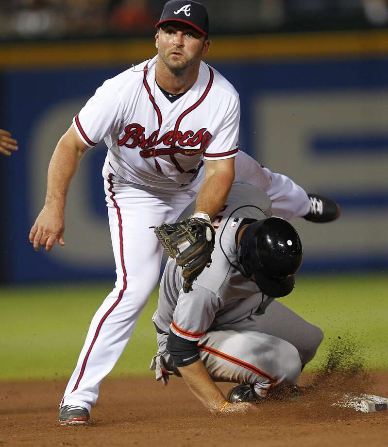 Dan UgglaDrafted by the Arizona Diamondbacks in the 11th round of the 2001 draft, Uggla was selected by the Florida Marlins in the 2005 Rule 5 draft. In 2010, the Marlins dealt Uggla to the Atlanta Braves. Uggla is a three-time All-Star and the Marlins all-time home run leader. Photo: John Bazemore, Associated Press