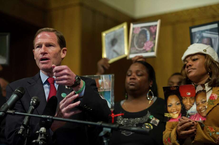 U.S. Sen. Richard Blumenthal (D-CT) as members of Faiths United to Prevent Gun Violence are joined by the Newtown Action Alliance and the Newtown Foundation for a news conference days before the one-year anniversary of the shooting at Sandy Hook Elementary School to honor the memory of gun violence victims, at the Lutheran Church of Reformation, December 11, 2013, in Washington, DC. The Newtown Action Alliance and supporters honor the memories of gun violence victims through acts of kindness and service around the DC metro area. Photo: Rod Lamkey, Getty Images /  Rod Lamkey/Getty Images