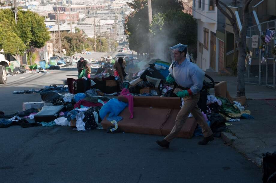 """San Francisco doesn't need to be razed to the ground to be destroyed. There are always epidemics like the one in """"Contagion"""" (aka your morning commute on Bay Area public transit). Photo: Warner Bros."""