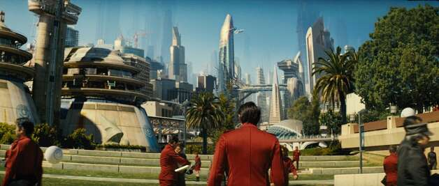 """Take note, future politicians of San Francisco: If the United Federation of Planets asks to build Starfleet Command and Starfleet Academy in the Bay Area, just say no. J.J. Abrams' """"Star Trek"""" (2009) and """"Star Trek: Into Darkness"""" (2013) brought destruction to the bay via orbital lasers and crash landing capital ships. Don't say we didn't warn you. Photo: Courtesy, The Chronicle"""