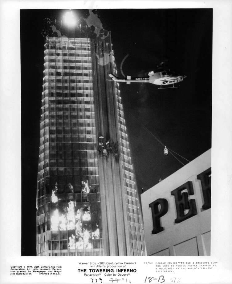 "The mother of all SF disaster movies, the ""Towering Inferno."" It's also the best disaster film of the 70's because what other cast features both OJ Simpson and Fred Astaire? Photo: Michael Ochs Archives, Getty Images"