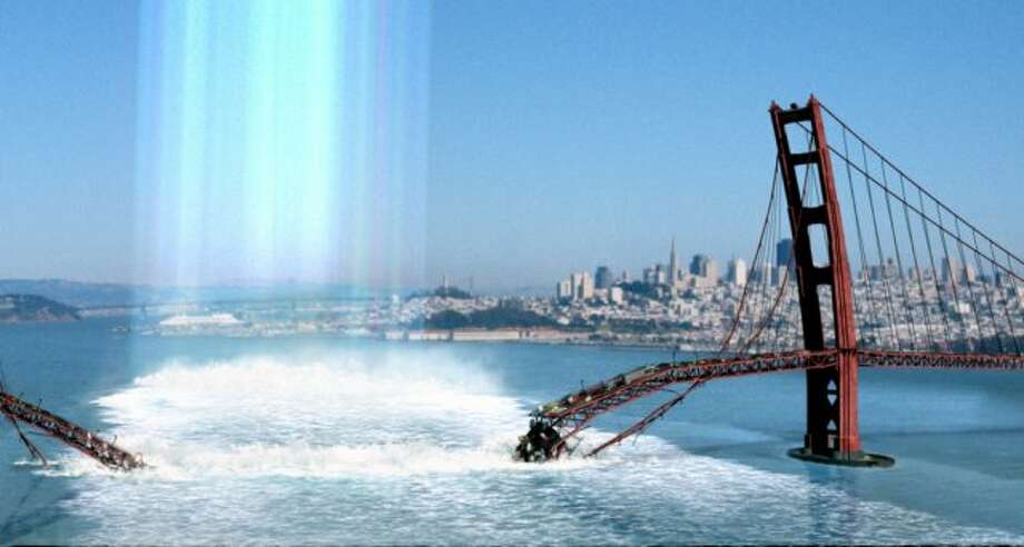 "Don't be fooled by this admittedly awesome special effect from ""The Core."" It's a 135-minute disaster film. If you can't wrap up your destruction of San Francisco in under two hours, you should leave it to the professionals. Like Megashark. Photo: HANDOUT, SFC"