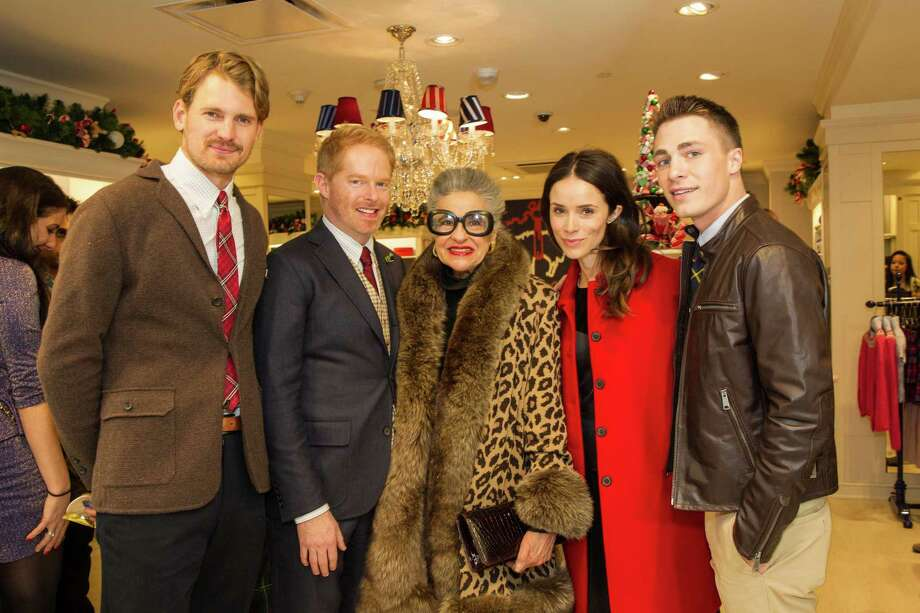 Josh Pence, Jesse Tyler Ferguson, Joy Venturini Bianchi, Abigail Spencer and Colton Haynes at Brooks Brothers' Holiday Celebration on December 10, 2013. Photo: Drew Altizer Photography/SFWIRE, Drew Altizer Photography / ©2013 by Drew Altizer, all rights reserved