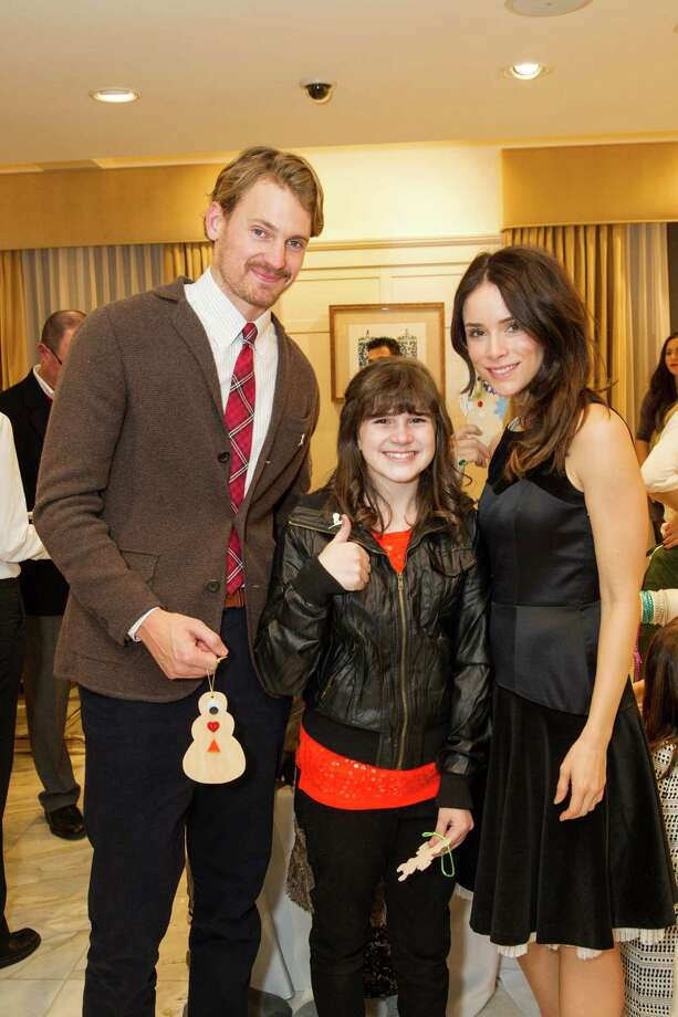Josh Pence, Audra Koelewyn and Abigail Spencer at Brooks Brothers' Holiday Celebration on December 10, 2013. Photo: Drew Altizer Photography/SFWIRE, Drew Altizer Photography / ©2013 By Drew Altizer all rights reserved