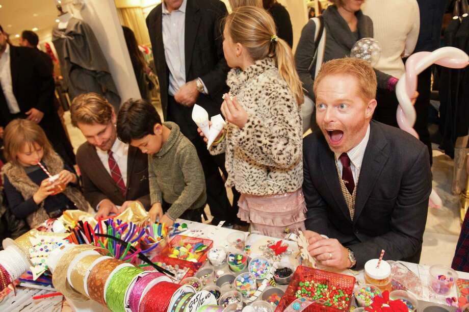 Actor Jesse Tyler Ferguson embraces his crafty side during Brooks Brothers' Holiday Celebration on December 10, 2013. Photo: Drew Altizer Photography/SFWIRE, Drew Altizer Photography / ©2013 by Drew Altizer, all rights reserved