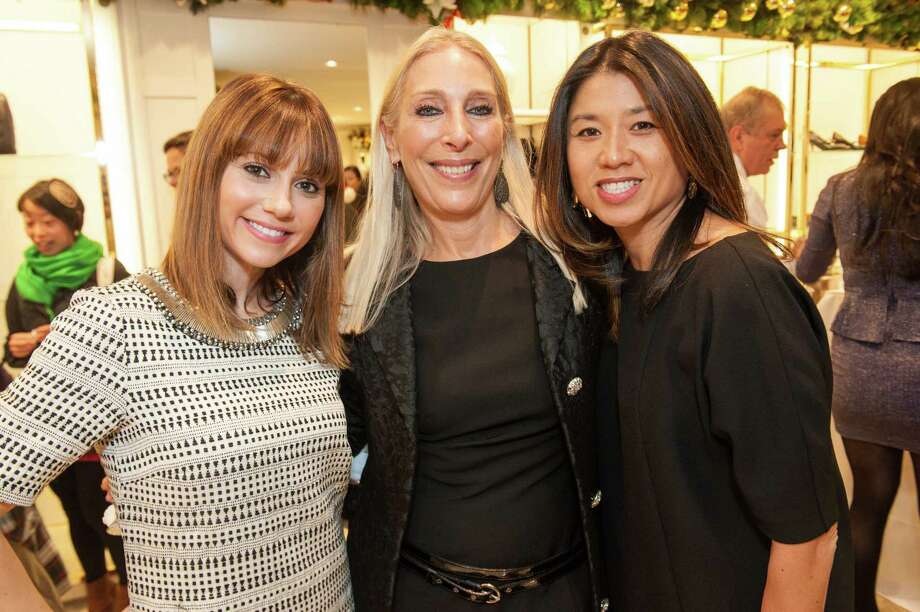 Monica Mazzei, Betsy Linder and Jennifer Flowers at Brooks Brothers' Holiday Celebration on December 10, 2013. Photo: Drew Altizer Photography/SFWIRE, Drew Altizer Photography / ©2013 by Drew Altizer, all rights reserved