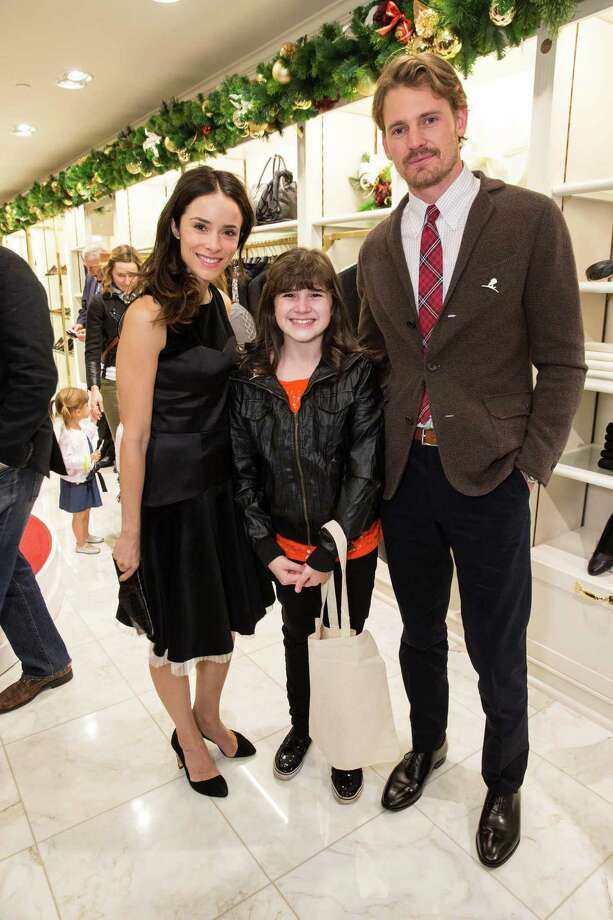 Abigail Spencer, Audra Koelewyn and Josh Pence at Brooks Brothers' Holiday Celebration on December 10, 2013. Photo: Drew Altizer Photography/SFWIRE, Drew Altizer Photography / ©2013 by Drew Altizer, all rights reserved