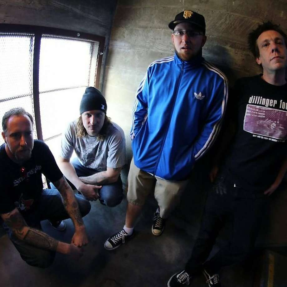 Accessible Oakland punk-pop band Dearly Divided consists of Brian Manter (left), Aaron Bruski, Jamie Cairns and Brett Mathews. Photo: Ben Knudtson