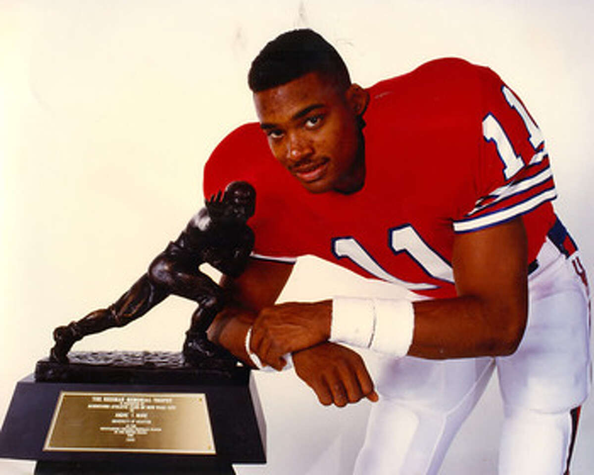 HOUSTON Andre Ware, QB (1987-89) Ware is UH's only Heisman Trophy winner when he threw for 4,699 yards and 44 touchdowns and set 26 NCAA records.