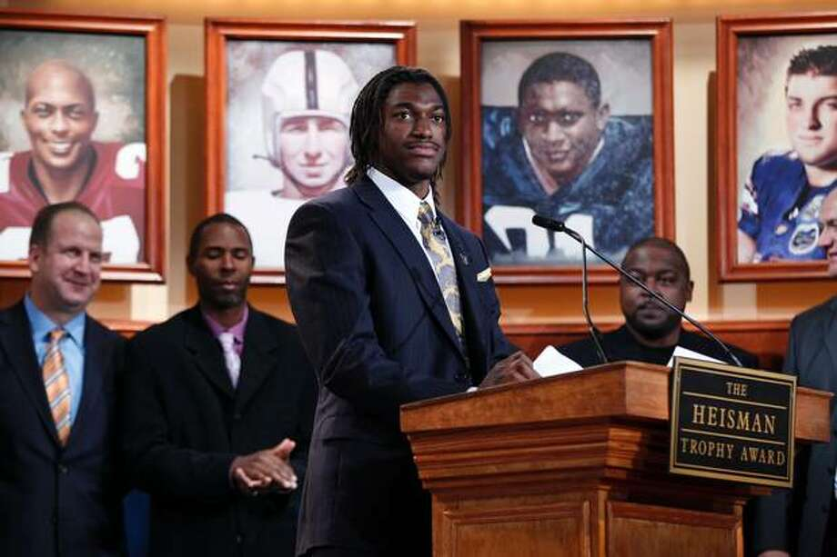 Baylor's Robert Griffin was the first native Texan to hoist the Heisman since Detmer.