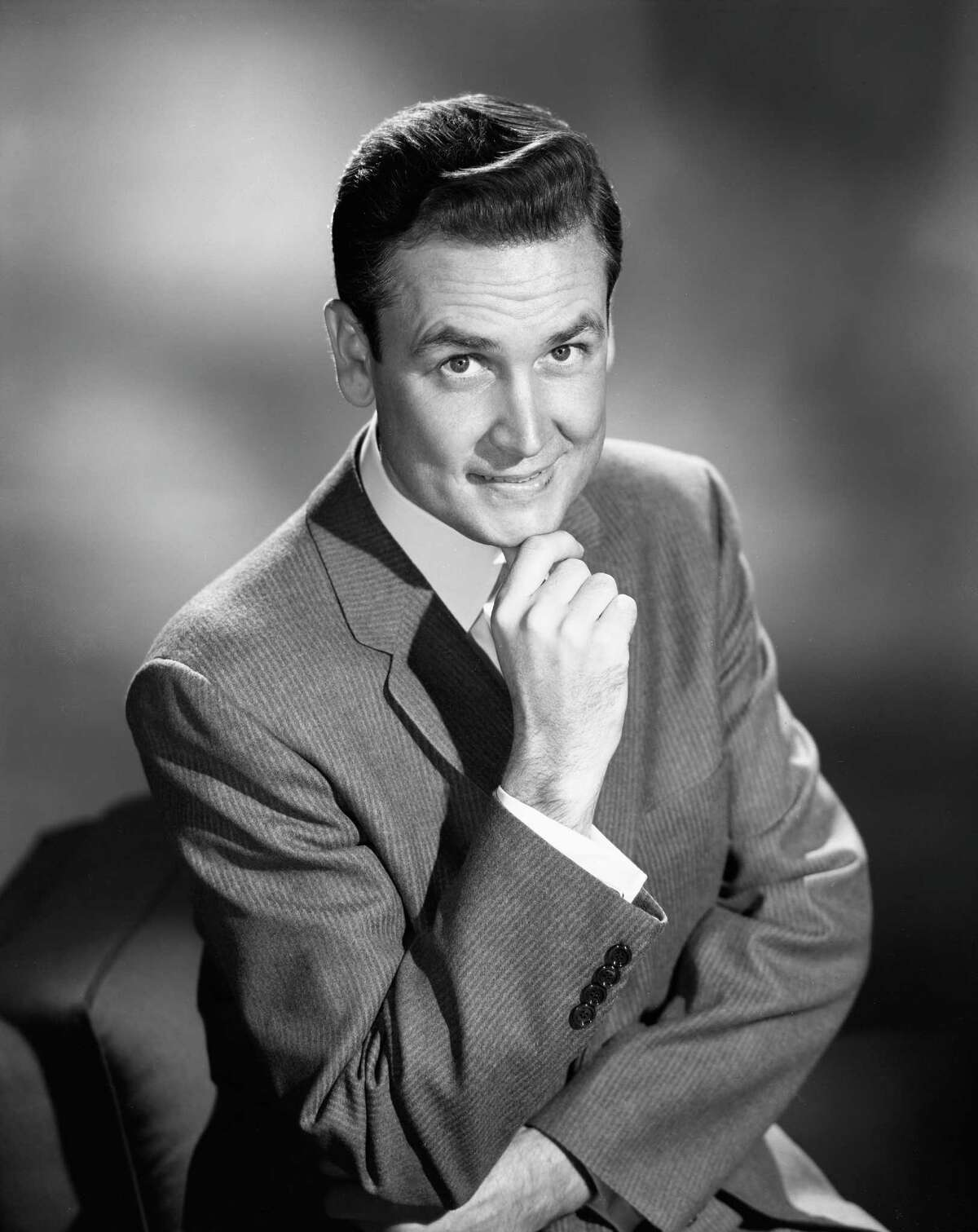 1956: Bob Barker, pictured in a portrait.