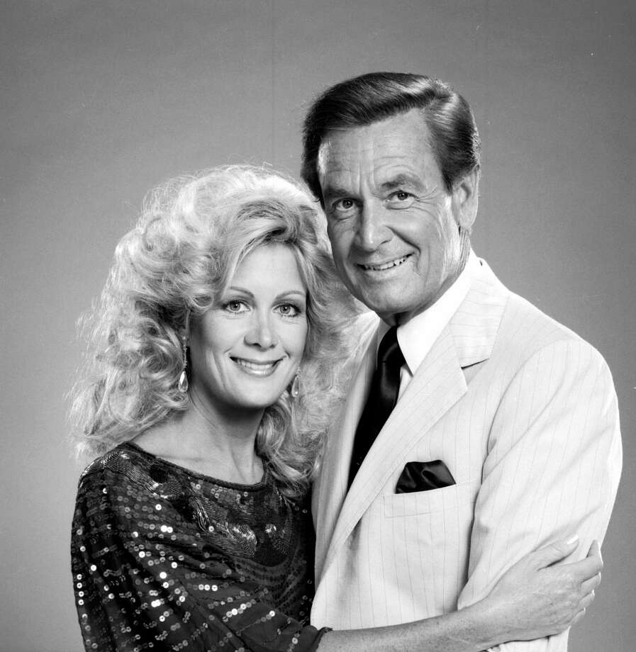 1983: Joan Van Ark and Bob Barker pictured in a promotion for Miss Universe. Photo: CBS Photo Archive, Getty Images / 1983 CBS Photo Archive