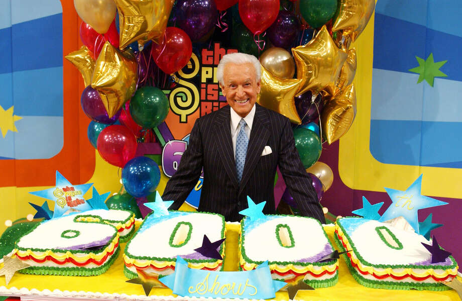 """2004: Bob Barker stands behind a cake and celebrates the 6000th episode of """"The Price Is Right."""" Photo: CBS Photo Archive, Getty Images / 2004 CBS WORLDWIDE INC."""