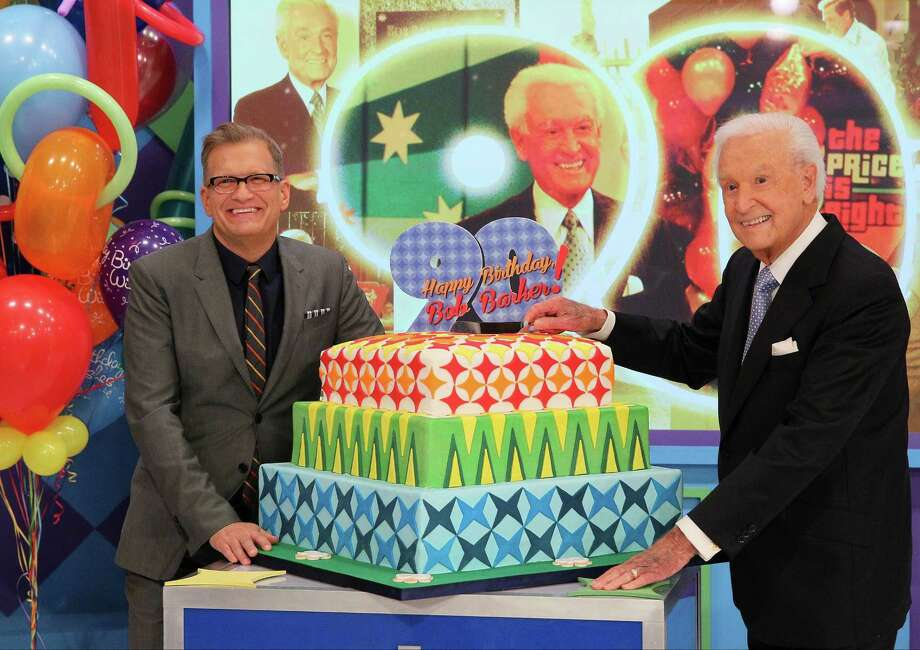 "2013: Bob Barker and Drew Carey attend the set of ""The Price Is Right"" earlier this year to tape a birthday episode. Photo: JB Lacroix, Getty Images / 2013 JB Lacroix"