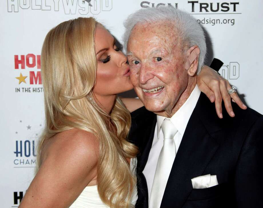 2013: Bob Barker and actress Gena Lee Nolin pictured in Hollywood, Calif. Photo: Paul Redmond, Getty Images / 2013 Paul Redmond