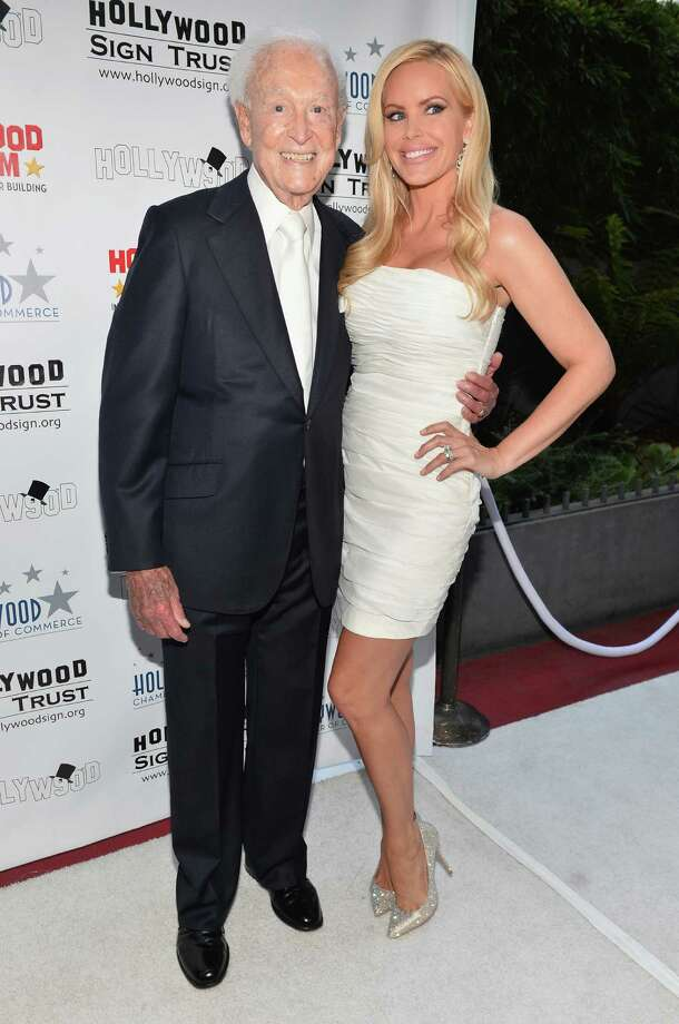 2013: Bob Barker and actress Gena Lee Nolin pictured in Hollywood, Calif. Photo: Alberto E. Rodriguez, Getty Images / 2013 Getty Images