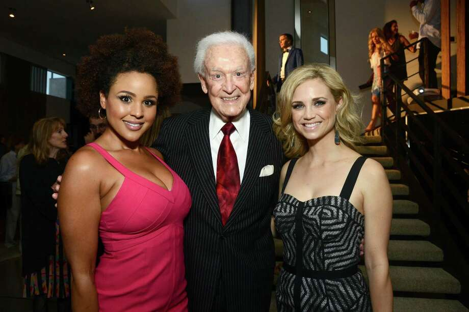 2013: Hayley Marie Norman, Bob Barker and Fiona Gubelmann attend a fundraiser in Los Angeles. Photo: Araya Diaz, Getty Images / 2013 Getty Images