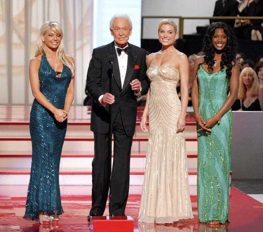 "2007: Bob Barker pictured with the ""Barker Beauties"" at the Emmys. Photo: Marc Bryan-Brown, Getty Images / WireImage"